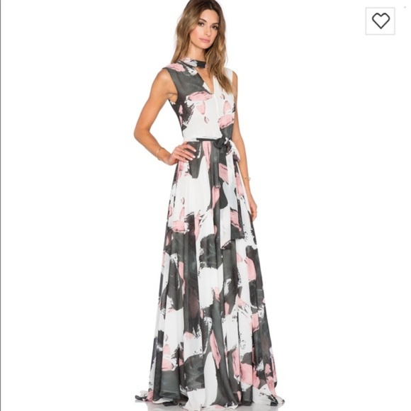TY-LR Dresses & Skirts - TY-LR The Hall Maxi Dress with Brushstroke Print